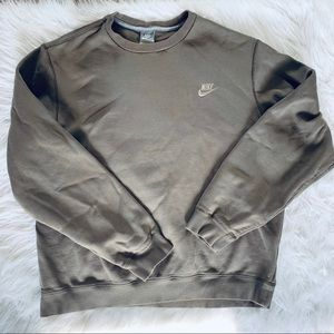 Nike Tan Brown Swoosh Sweatshirt